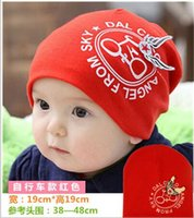 baby girl bikes - Hot sale Cotton Baby Hat Baby Cap infant Cap Cotton Infant Hats bike Bicycle wings Caps Toddler Boys Girls Gift