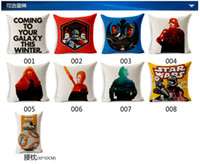 Wholesale Free DHL Star Wars The Force Awakens Pillow Covers Cartoon Cushion Covers Linen Pillow Case Cushion Cover European Throw Pillow Cases BY000