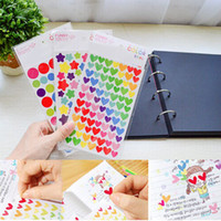 Wholesale Fashion Hot Sheet Colorful Rainbow Sticker Diary Planner Journal Scrapbook Albums Photo DIY Decor Decal Stickers