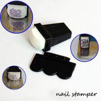 Cheap 10SET LOT Nail Art Image Silicone Stamper Soft Transfer Stamper with Metal Scraper Nail Art Stamping&Scraper Manicure Nail Tools #X007