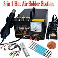 Wholesale 220V in Hot Air Rework Solder Station Hot air gun soldering station Soldering iron Power Supply D Upgrade Edition order lt no track