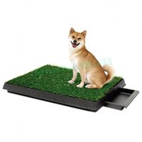 Wholesale Size cm Dog Puppy Potty Training Grass Pad Zoom Park Patch Mat Indoor With Drawer