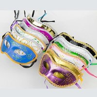 Wholesale 2015 New Half Mask For Women Fashion Colored Painting Half face PVC Plastic Party Mask Multi color Masquerade Mask g