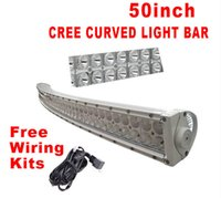 bar items - American hot items for Outdoor light inch W Led Curved Light Flood Spot Combo Bar Truck Offroad WD Suv Ute Bar sportlight powerful