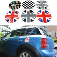 Wholesale Car Styling Fuel Tank Cap D Sticker Decals For Mini Cooper Countryman R55 R56 Colors Funny Cute Decoration Auto Accessories