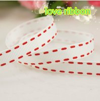 Wholesale yards inch mm Jumper Stripes Printed Grosgrain Ribbon for hair accessory decorations