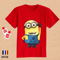 Wholesale DHL Free Size Summer Minion Despicable Me Short Sleeve Baby Boy T Shirt Kid Clothes Boy T Shirt