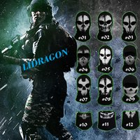 Mask call of duty - Retail Call Of Duty Ghost Masks Skull Balaclava Paintball Outdoor Ski Army WarGame Airsoft Military Tactical Game Hats Full Face Mask