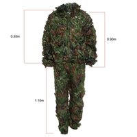 Wholesale High Quality Hunting D Camo Bionic Leaf Camouflage Jungle Hunting Ghillie Suit Set CS Savage Kit Storage Bag