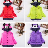 Wholesale 2015 Minnie children outerwear cotton winter Hooded coats Jacket Kids Coat children winter Girls clothing sets Down Parkas years