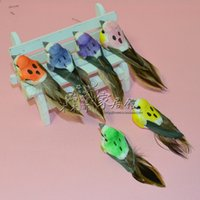 artificial feather birds - home decoration artificial bird mini feather bird home decoration magnetic refrigerator stickers props home accessories