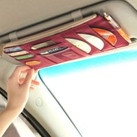 Wholesale Cd visor Korean version of the second generation multifunction car visor Storage Bag Bag summer sun sun block before