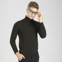 Wholesale MEN NEW STYLE KNITTED WOOL ROLL NECK SWEATERS PULLOVERS HOT SALE AUTUMN WINTER CASUAL TURTLENECK