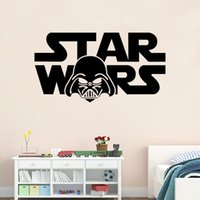 character resins - 56 cm STAR WARS Letters DIY Removable Art Vinyl Quote Wall Sticker Decal Mural Home Decor Stickers For Kids Boys Rooms QT002