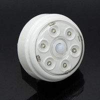 Wholesale 6 LED Light Lamp PIR Auto Sensor Motion Activated Detector Wireless Night Light L0606
