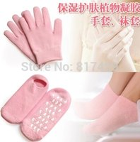 Wholesale Hot pairs pair glove pair socks Whiten Skin Moisturizing Treatment Gel SPA gloves and socks foot care