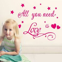 baby love quote - Love Is All You Need Quotes Stars Princess Baby Girl Lovers Wall Decal Nursery Vinyl Sticker Decor Children Room Decor Wall Art