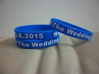 achat en gros de bracelets d'impression-100PCS / Lot silicone personnalisé bracelet avec votre message personnel. Personalized écran Imprimer silicone bracelets.Custom bracelet en silicone. A001