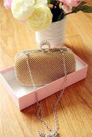 bag handle strap - Top Quality Hnad made Diamonds Luxury Bridal Handbags Prom Party Clutches Purse Bags For Ladies Women Handbag Wedding Accessories WWL