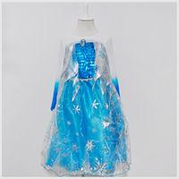 Wholesale children dress kids Elsa Costume For Girls Dress Up Elsa Movie Costumes Fashion Princess Party Dresses Infant Clothing free ship1701105