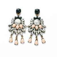 big retro style earrings - 2014 new European style big retro flower women s exaggerated earrings