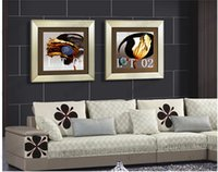 Cheap Framed pictures 1piece Modern Wall Painting lotus Home Decoration Art Picture Paint on Canvas Prints(Size:32cmx32cm,42x42cm)