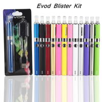 Wholesale EVOD blister MT3 Blister Kit E Cigarette Starter Kit MT3 evod Atomizer EVOD Batteries mAh mAh mAh with usb charger blister pack