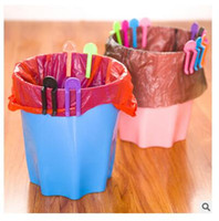 Wholesale Dhgate Practical Garbage Bag Fixed Clip Trash Can Clip trash pack holder kitchen organizer Decoration accesories clip Newest