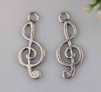 music charm pendant - Hot Antique Silver Music notation Charm pendants DIY Jewelry x mm mm17