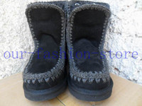 artificial toes - top quality Warm winter snow boots real cowhide leather Women casual fashion sewing comfort Artificial fur boot mou