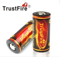 Wholesale Sales original TrustFire Rechargeable Batteries Large Capacity mAh V Rechargeable Lithium Battery with PCB Protected Board