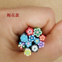 Wholesale Nail Art Stickers syles Nail Art Canes Stickers Rod Fimo Decoration Fruit And Flower Cutted Fruit nail art cane Nail rhinestones