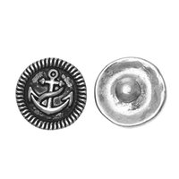 Wholesale Fashion Snap Jewelry Button Round Antique Silver Fit Fashion Bracelets Anchor mm Dia Knob Size mm new