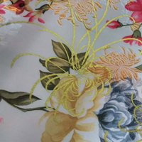 Wholesale Ancient costume hanfu cheongsam doll clothes kimono COS white jacquard fabric peony brocade fabrics