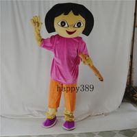 dora mascot - Hot Fashion High Quality explore D Dora mascot costume Hamsters mascots Adult size frozen Cartoon Character costume