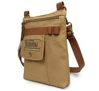 Wholesale Shoulder Bags for Men OEM Vintage Plain Canvas Male Shoulder Messenger Bags Desigual Cross Body Men s Vertical Shoulder Bags