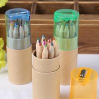 Wholesale 12 Colors Colored Pencils New Cute Wooden Writing Painting Pencils For Kids School Supplies