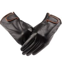 mens sports gloves - Outdoor Sports Winter Warm High quality sheepskin gloves genuine leather gloves Mens fashion winter warm thick leather gloves