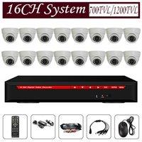 plastic lens - 1200tvl tvl cctv camera system with ch dvr plastic case dome camera leds mm lens for indoor use security system