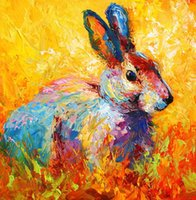 Wholesale Museum Quality Giclee Artwork Oil Paintings on Canvas Colorforest bunny Unframed