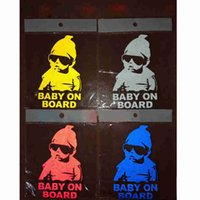 Wholesale 2015 new reflective baby on board stickers color baby on board stickers car stickers reflective baby on board stickers refective stickers