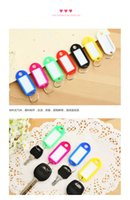 Wholesale Car key tag keychain luggage tag trip Hotel classification number plate licensing keys listed