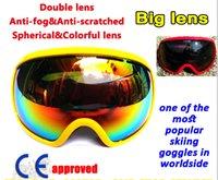Wholesale Big Double Lens Anti Fog Skateboard Goggle Motorcycle Motocross Goggles