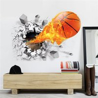 baseball wall decor - Baseball Removable D Wall Sticker Decoration Breakthrough Wall for Kids Creative creative gift Home Décor beautiful wall stickrs home decor