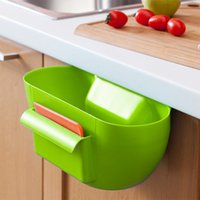 Wholesale Cute Home Kitchen Cabinet Trash Storage Box Organizers Garbage Holder Portable Hanging Plastic Box