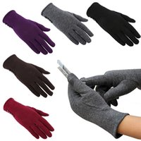 Wholesale Hot Sales Women Touch Screen Gloves Mittens Cashmere Blends Weaved Knit Winter Warm Fashion EA5