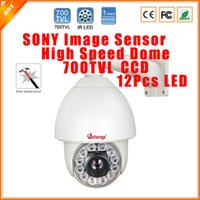 Wholesale 1 SONY Effio E TVL High Speed PTZ Dome Camera X Optical Zoom Waterproof Outdoor PTZ Security Camera With Bracket CCTV