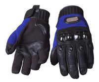 achat en gros de jaune gants de moto noir-Gants en gros-Moto Moto Goat Gants en cuir Gants Moto Motocross Pro-motard noir / rouge bleu jaune Mcs-11 Expédition / / Free