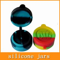 Wholesale 42mm Silicone Jars Wax Silicone Containers Dab Conjoined Silicone Jars Dab Wax Vaporizer Oil Container For Dry Herb Atomizer Wax Vaporizer