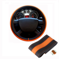 Wholesale DIY Leather Car Steering Wheel Cover Diameter cm Auto Car Stitch On Wrap Cover With Needles and Thread order lt no track